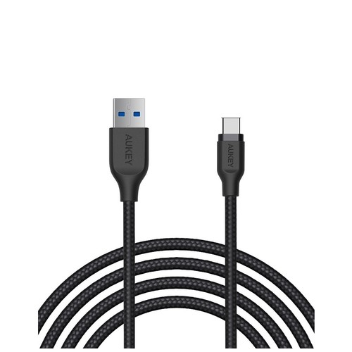 Aukey Cable 2M USB 3.0 to USB C Braided Black - 500281