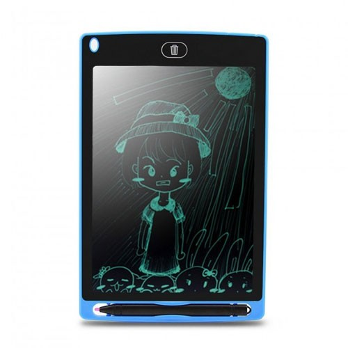 Digital LCD Tablet 8.5 Inch Drawing Board Magic Eraser with Stylus Pen - Blue