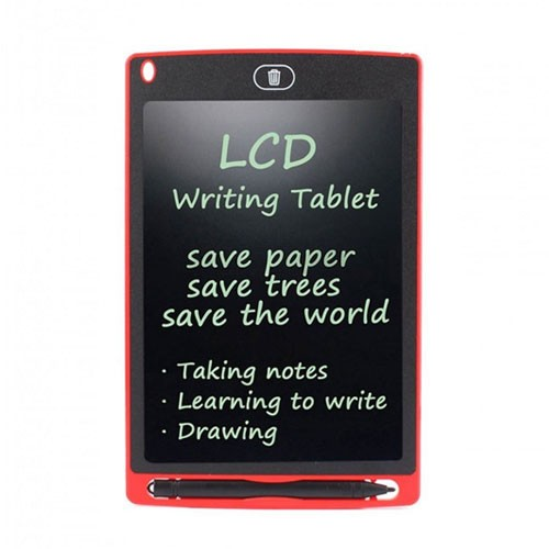 Digital LCD Tablet 8.5 Inch Drawing Board Magic Eraser with Stylus Pen - Red