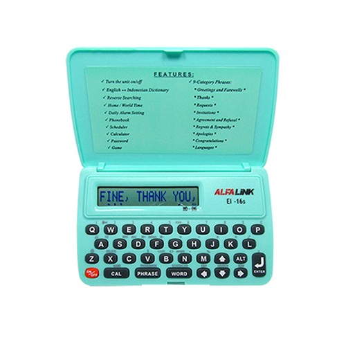 Alfalink Electronic Dictionary EI 16S Green