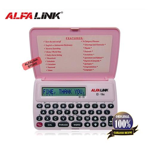 Alfalink Electronic Dictionary EI 16S Pink