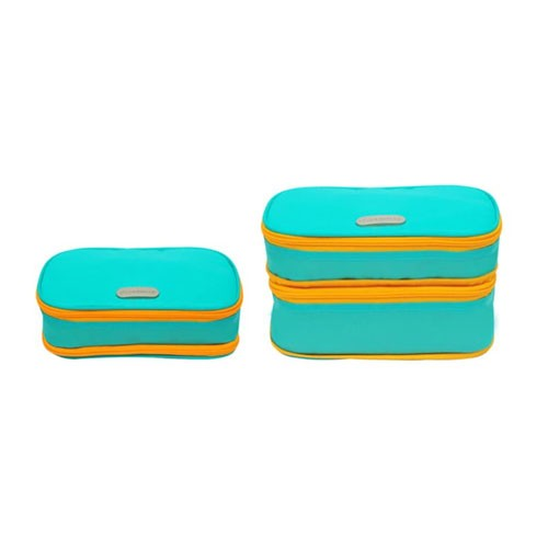 D'renbellony Expandable Cosmetic Pouch (ECP) - Turquoise Green