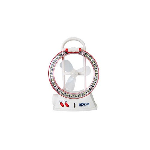 Idealife Emergency Lamp with Fan IL-283 - Red