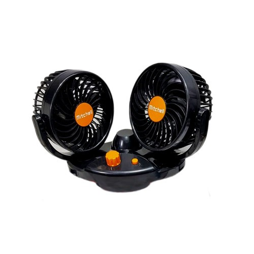 Mitchell Swing Kipas Mobil Double Fan Double Blower - HT-516 24V DC - Black