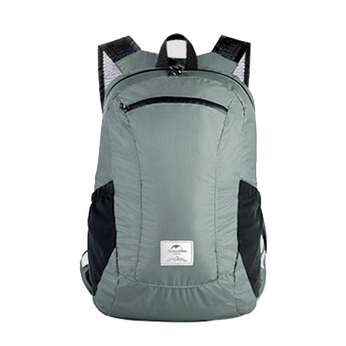 Naturehike NH17A012-B 18L Camping Waterproof Folding Backpack - Grey