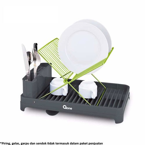Oxone Eco Dish Rack with Hanger OX-573 - Black