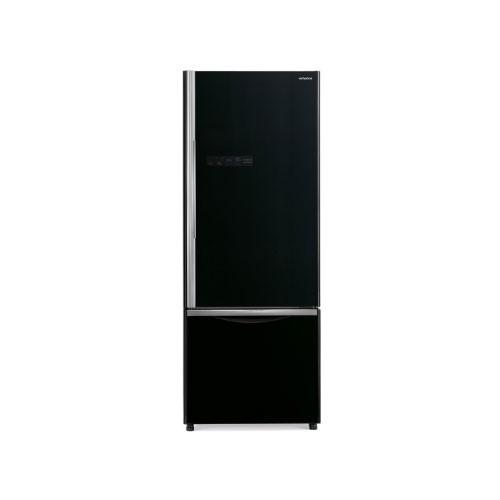 Hitachi Kulkas 2 Pintu (Freezer Bawah) - R-B50PGD6 - Glass Black