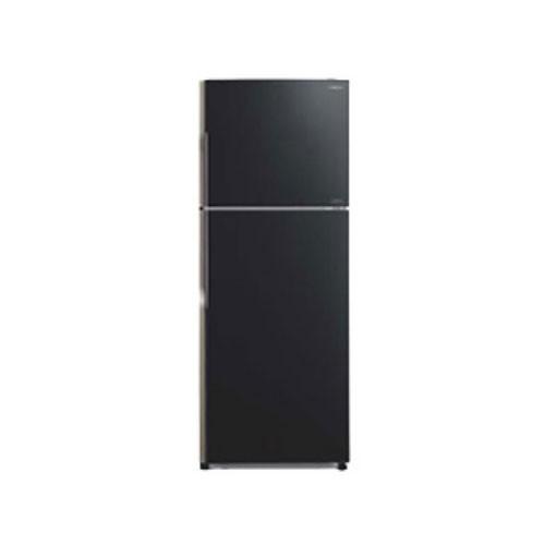 Hitachi Glass Kulkas 2 Pintu - R-VG45PGD3 GBK - Glass Black