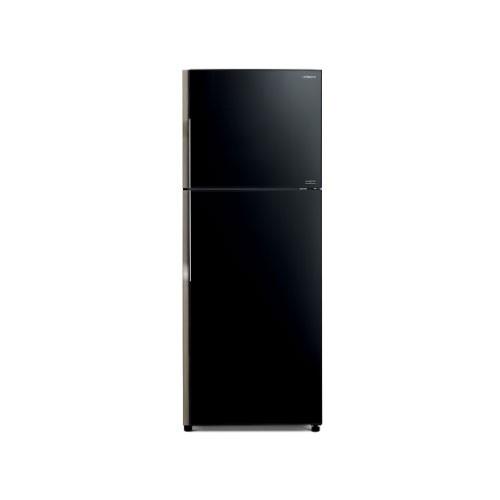 Hitachi Glass Kulkas 2 Pintu - R-VG47PGD3 GBK  - Glass Black