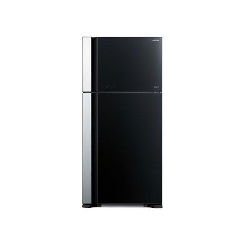 Hitachi Glass Kulkas 2 Pintu - R-VG70PGD7 GBK - Glass Black (Jakarta)
