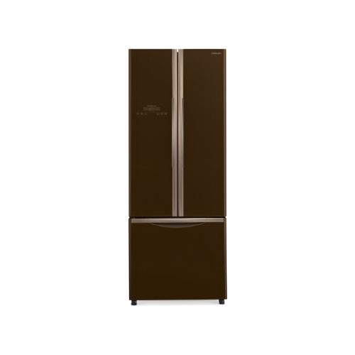 Hitachi French Bottom Freezer 3Door -  R-WB48PGD2 GBW - Glass Brown