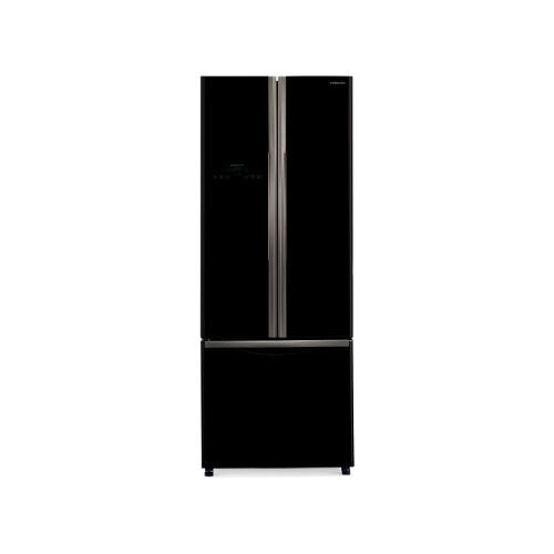 Hitachi French Bottom Freezer 3 Door - R-WB55PGD2 GBK - Glass Black