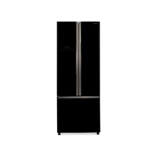 Hitachi French Bottom Freezer 3 Door - R-WB55PGD2 GBK - Glass Black