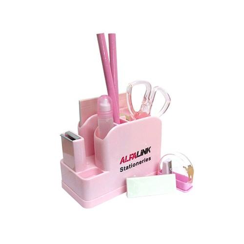 Alfalink Stationary Set Pink