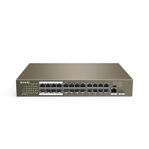 Tenda 10/100 Mbps +1 Gigabit/SFP Slot With 24-Port PoE TEF1126P