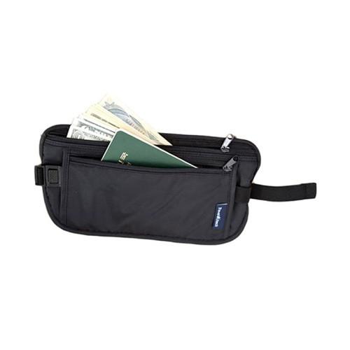 Travel Check Waist Bag Tas Pinggang Traveling - Black
