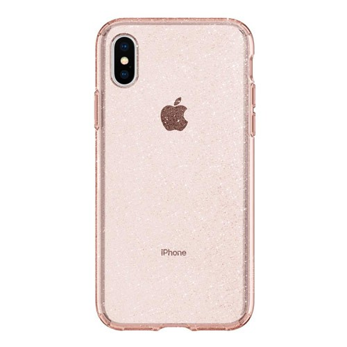 Spigen Case Liquid Crystal for iPhone XS / X - Glitter Rose Quartz