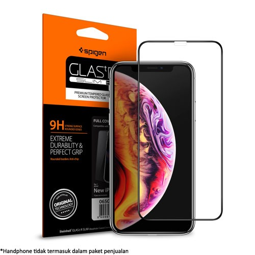 Spigen Glass FC Full Cover HD for iPhone XS Max - Black