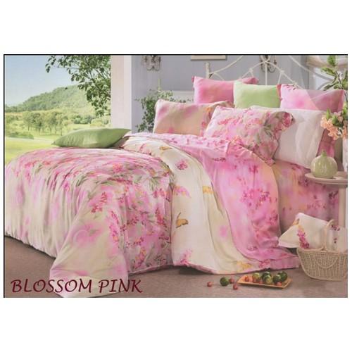 Rise Sprei Motif Blossom Pink Ukuran 180X200X40