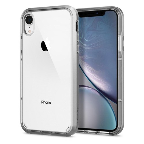 Spigen Neo Hybrid Crystal Case for iPhone XR - Satin Silver