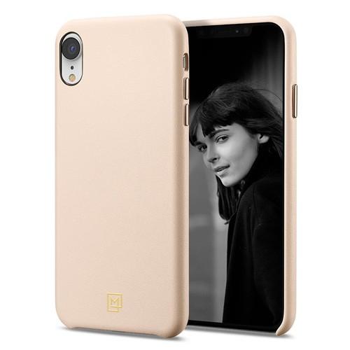 Spigen La Manon Calin Leather Case for iPhone XR - Pale Pink