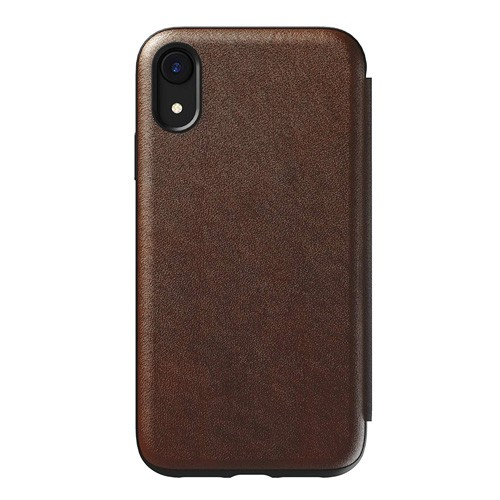 Nomad Leather Tri-Folio Case for iPhone XR - Brown