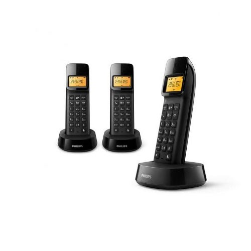 Philips Cordless / Wireless D1403 Trio Black