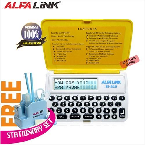 Alfalink Electronic Dictionary EI 215 Yellow