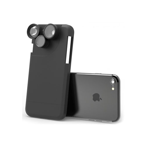 Pickogen Back Case with 4 in 1 Rotating Camera Lens for iPhone X &  XS
