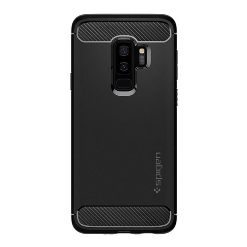Spigen Case Rugged Armor for Galaxy S9+ - Matte Black