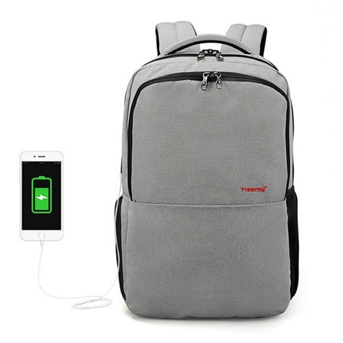 Original Tigernu Premium T-B3259 Lapto Backpack with USB Charger Port - Grey