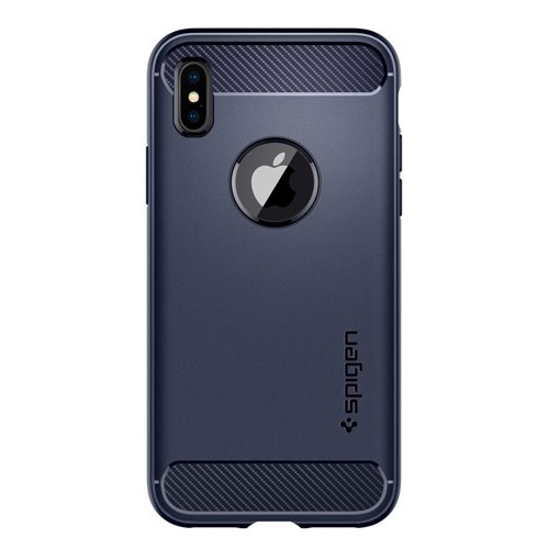 Spigen Rugged Armor for iPhone X - Midnight Blue / Navy