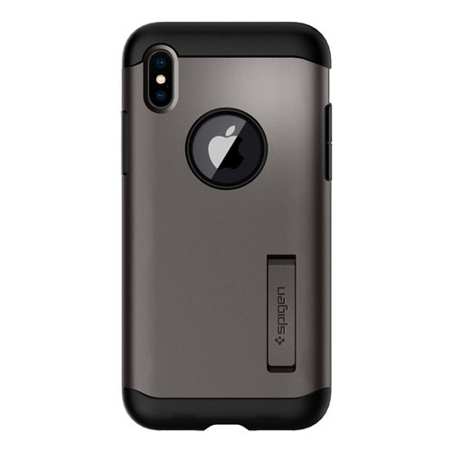 Spigen Slim Armor for iPhone X - Gunmetal