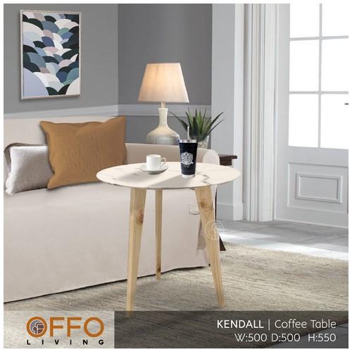 Offo Living - Meja Tamu Coffee Table Kendall Putih