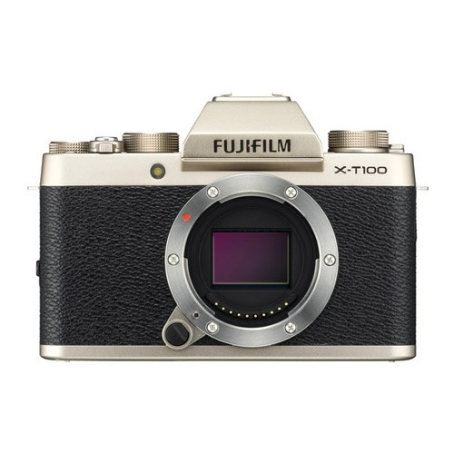 Fujifilm Mirrorless Digital Camera X-T100 Body Only - Champagne Gold