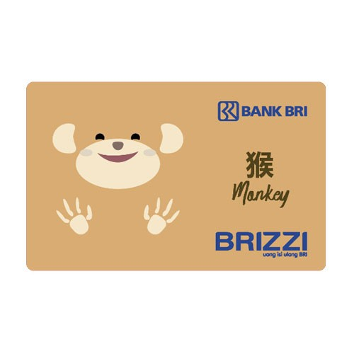 Brizzi BRI Zodiac Card Finished Artwork - Monkey