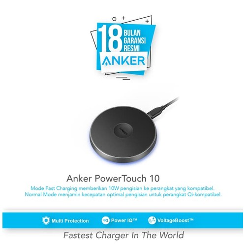 Anker PowerTouch 10 Premium High Speed Wireless Charger A2512H11
