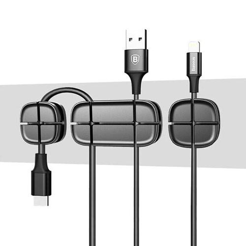 Baseus Cross Peas USB Cable Clip Holder ACTDJ-01 - Black