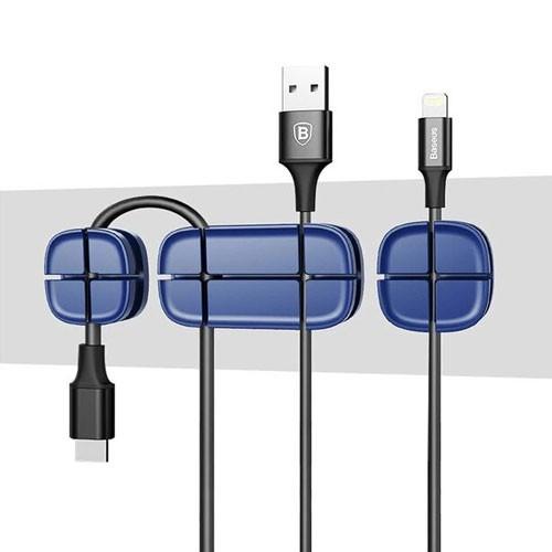 Baseus Cross Peas USB Cable Clip Holder ACTDJ-01 - Blue