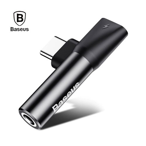 Baseus Type-C to 3.5mm Audio Charging Adapter CATL41 L41 - Black
