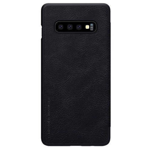 Nillkin Qin Leathercase for Samsung Galaxy S10+ - Black
