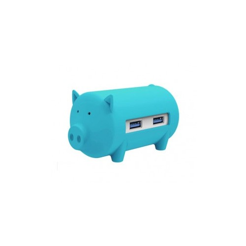 Orico H4018-U3 Litte Pig Hub with Card Reader - Blue