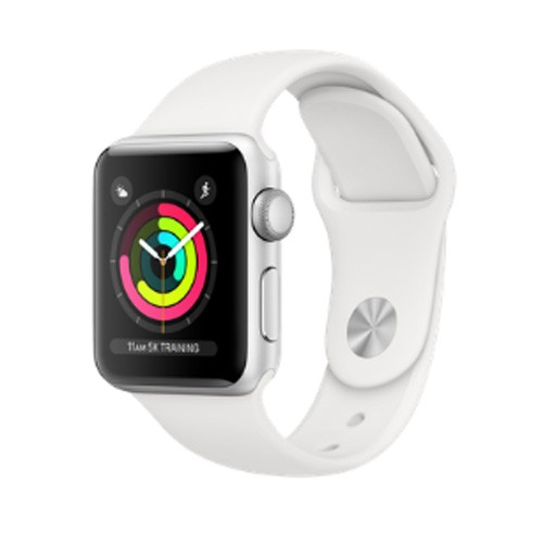 Apple Watch Series 4 GPS Only 40mm Silver Aluminium Case With White Sport Band - MU642ID/A