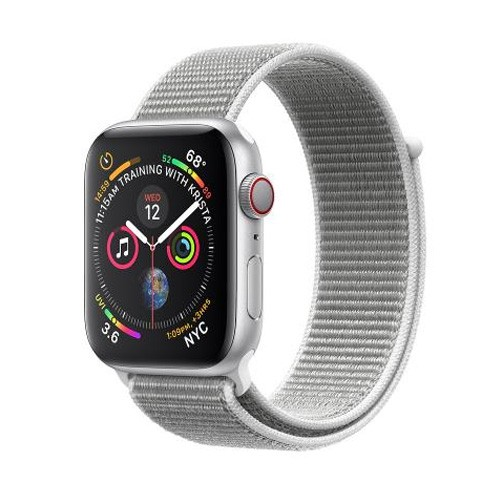 Apple Watch Series 4 GPS Only 40mm Silver Aluminium Case With Seashell Sport Loop - MU652ID/A