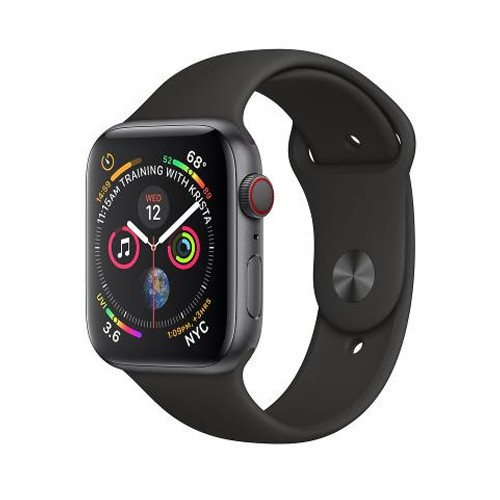 Apple Watch Series 4 GPS Only 40mm Space Grey Aluminium Case With Black Sport Band - MU662ID/A