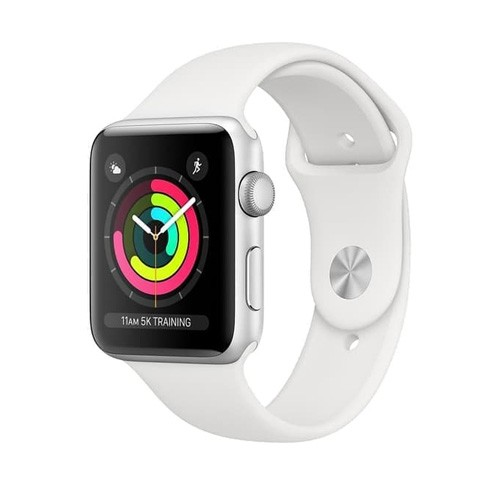 Apple Watch Series 4 GPS Only 44mm Silver Aluminium Case With White Sport Band - MU6A2ID/A