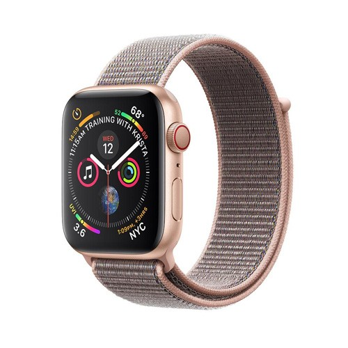 Apple Watch Series 4 GPS Only 44mm Gold Aluminium Case With Pink Sand Sport Loop - MU6G2ID/A
