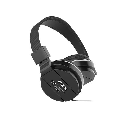 PZX Foldable Headphones R2 Stereo Extra Bass & Mic - Black
