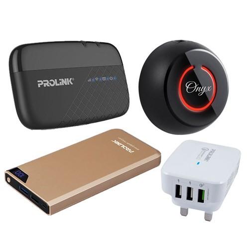 Prolink Power Bank PPB1001 White + Travel Charger + Modem mifi + Prolink Foto Onyx