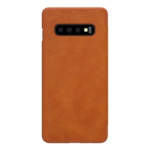 Nillkin Qin Leathercase for Samsung Galaxy S10 - Brown